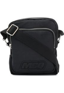 Mcq Alexander Mcqueen Bolsa Carteiro Com Patch De Logo - Preto