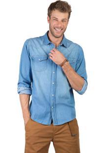 Camisa Jeans Azul Marinho
