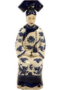 Escultura Decorativa Rainha Chinesa De Porcelana Lassa
