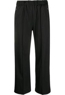 Calvin Klein Calça Esportiva Cropped - Preto