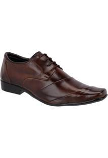Sapato Social Couro Leoppé C/ Cadarço Masculino - Masculino-Marrom