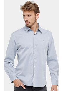 Camisa Social Ellus Clássica Stone Masculina - Masculino