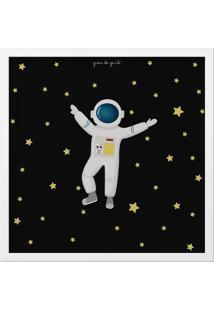 Quadro Astronauta 38Cm Grão De Gente Azul
