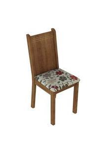 Kit 2 Cadeiras 4290 Madesa Rustic/Hibiscos