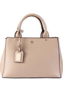 Bolsa Mão E Transversal Hand Bag Colors Do Desejo Le Postiche Rosa (Bege, Único)