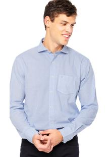 Camisa Manga Longa Vr Estampada Azul