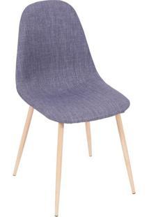 Cadeira Charla- Jeans & Bege- 85,5X45X40Cm- Or Dor Design