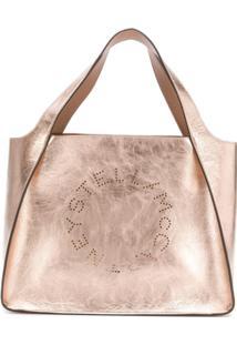 Stella Mccartney Bolsa Tote Stella Com Logo - Dourado