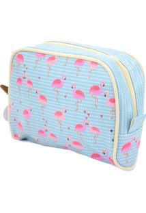 Necessaire De Viagem Grande - Coleção Flamingo - Mood
