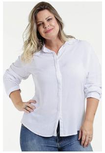 302f1dc188 ... Camisa Feminina Plus Size Manga Longa Gups