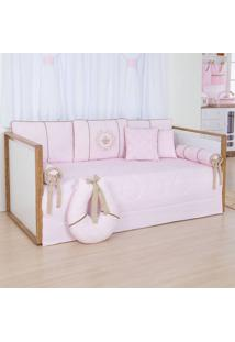 Bicama Princesa Real - Maria Lua Baby - Rosa / Branco / Caqui