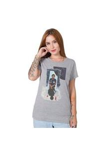 Camiseta Stranger Things Collage Cinza Stoned