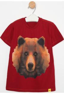 Camiseta Geomã©Trica - Vinho & Marrom- Oliveroliver