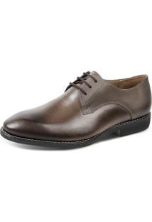 Sapato Social Masculino Derby Sandro Moscoloni Marrom Escuro