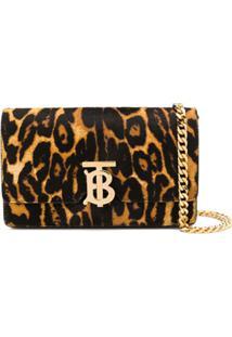 Burberry Leopard Print Shoulder Bag - Preto