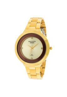 Relógio Analógico Backer Feminino - 3228122M Dourado
