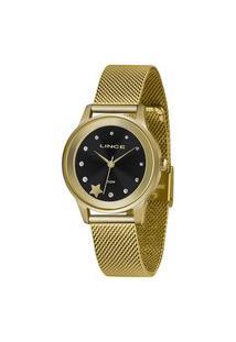 Kit Relógio Feminino Lince Lrgh122L-Kx02P1Kx Analógico 5Atm + Pulseira   Lince   Preto   U