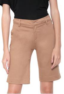 Bermuda Sarja Calvin Klein Jeans Chino Alfaiataria Bege
