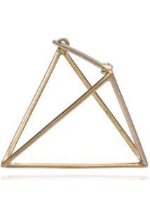 Shihara Brinco Único Triangular De Ouro 18K - Metálico