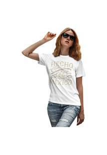 Camiseta Feminina Mirat Hecho En Mexico Branco