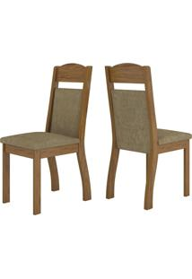 Cadeiras Kit 2 Cadeiras Selena 14108 Seda/Neve - Viero Móveis