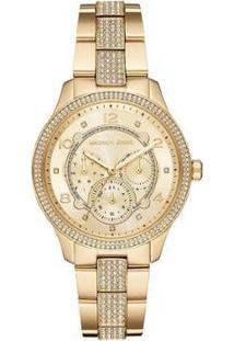Relógio Michael Kors Runway Feminino - Feminino-Dourado