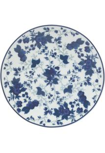 Prato Sobremesa Porcelana Real By Schmidt - Dec. Folhagem