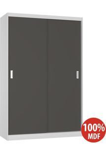 Guarda Roupa 2 Portas De Correr 100% Mdf 813 Branco/Café - Foscarini