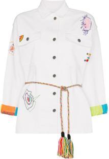 Mira Mikati Jaqueta Jeans Com Bordado - Branco