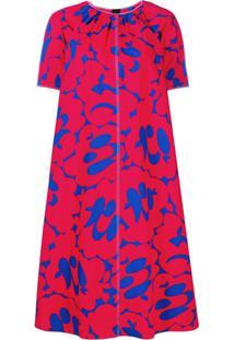 Marni Vestido Estampado - Vermelho