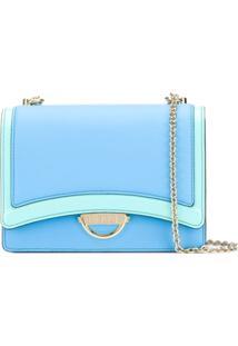 Emilio Pucci Bolsa Tiracolo Color Block - Azul
