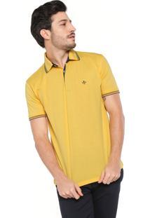 b487a183cb Camisa Pólo Amarela Dudalina masculina