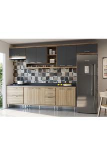 Cozinha Compacta Sicília 10 Pt 5 Gv Argila E Grafite