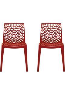 Conjunto De 2 Cadeiras Gruv Vermelha