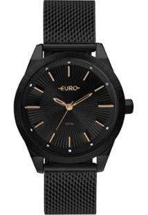 Relógio Euro 42Mm Aço Feminino - Feminino-Preto
