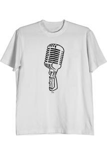 Camiseta Cnx Clothing Microfone Branca