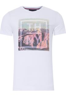 Camiseta Masculina Photo Print Tee - Branco