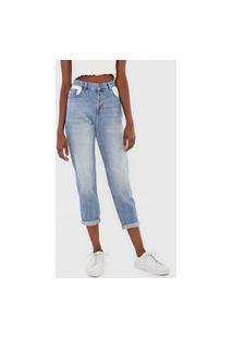 Calça Jeans Cantão Mom Estonada Azul