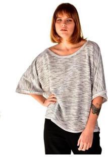 Blusa Oversized Em Moletinho Rustico Brohood Feminina - Feminino-Branco