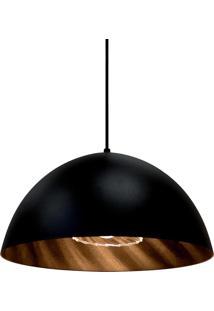 Luminária Pendente Taschibra Lisy E27 40W Preta Bivolt