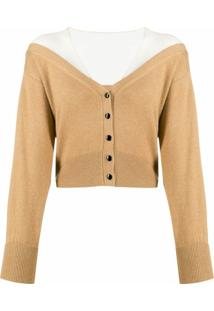 Alexander Wang Cardigan Cropped Slim - Neutro