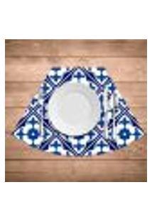 Jogo Americano Para Mesa Redonda Wevans Tile Blue Kit Com 6 Pçs