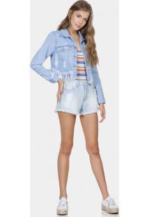 Jaqueta Jeans Destroyed Estonada Jeans - Lez A Lez