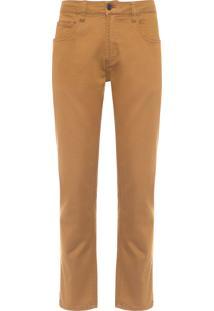 Calça Masculina Color Comfort - Marrom