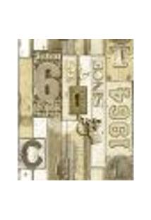 Papel De Parede Adesivo Decoração 53X10Cm Bege -W22001
