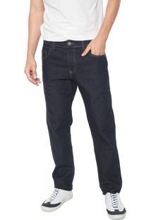 Calça Jeans Polo Wear Skinny Pespontos Azul-Marinho