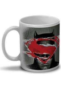 Caneca Bandup Batman Vs Superman Face To Face Branco