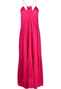 Isabel Marant Vestido Gola V Com Alças Finas - Rosa