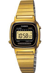 3289d94d71c Dafiti Relógio Feminino Casio Dourado La670wga-1df