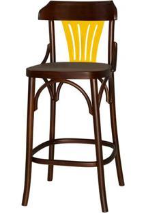 Banqueta Opzione Acabamento Imbuia Com Amarelo - 27472 - Sun House
